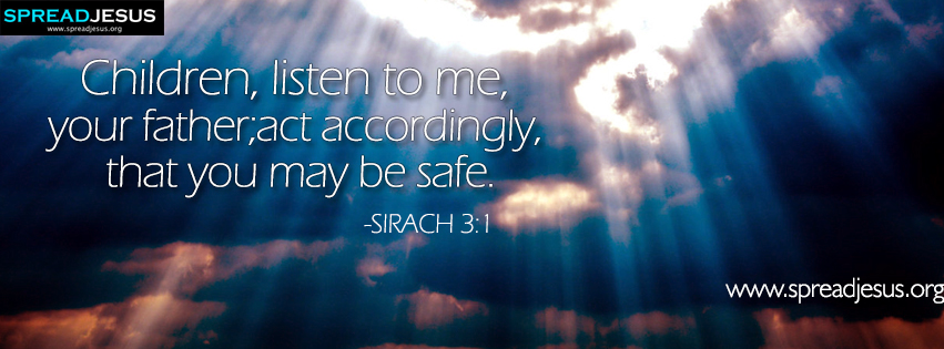Bible Quotes Facebook Covers Sirach 6060 Download Children Listen To Me Inspiration Bible Quotes About Children