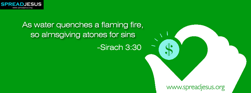 Bible quotes Facebook Covers Sirach 3:30 Download