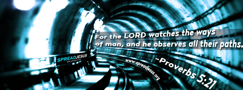 Proverbs 5:21 Facebook timeline cover