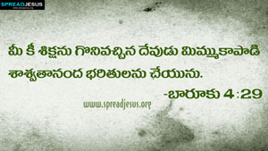 Telugu Bible Quotes HD-Wallpapers BAARUKU 4:29