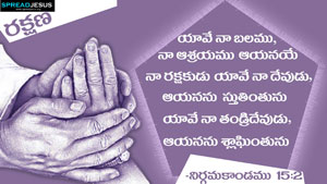 Telugu Bible Quotes HD-Wallpapers NIRGAMAKANDAMU 15:2