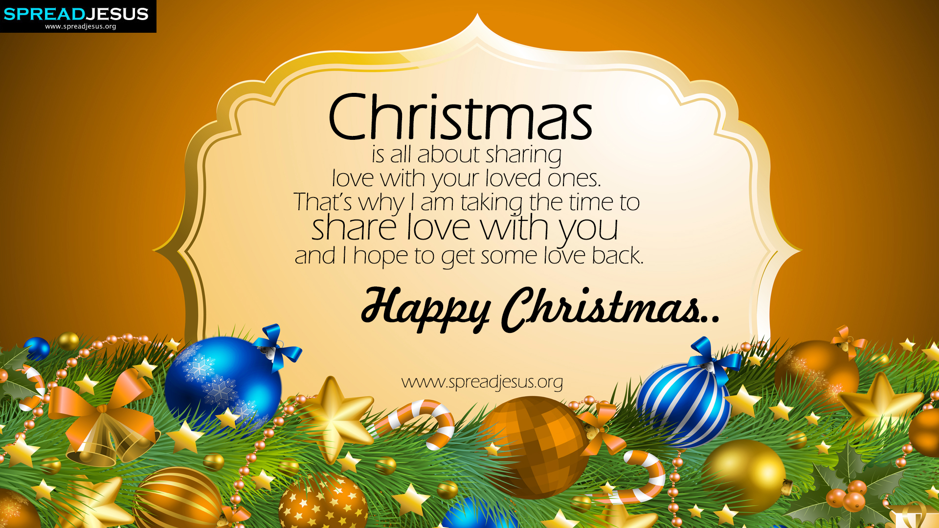 Happy Christmas HD Wallpapers Share Love with you