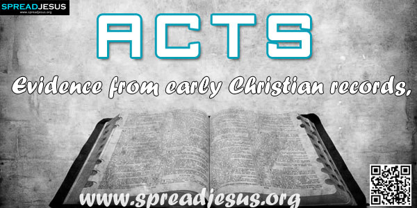 ACTS Evidence from early Christian records, as well as from the book itself, indicates that Luke wrote the book of Acts.