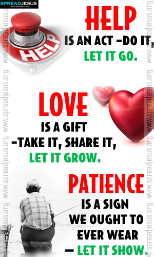 INSPIRING QUOTES-HELP is an act-do it  let it go