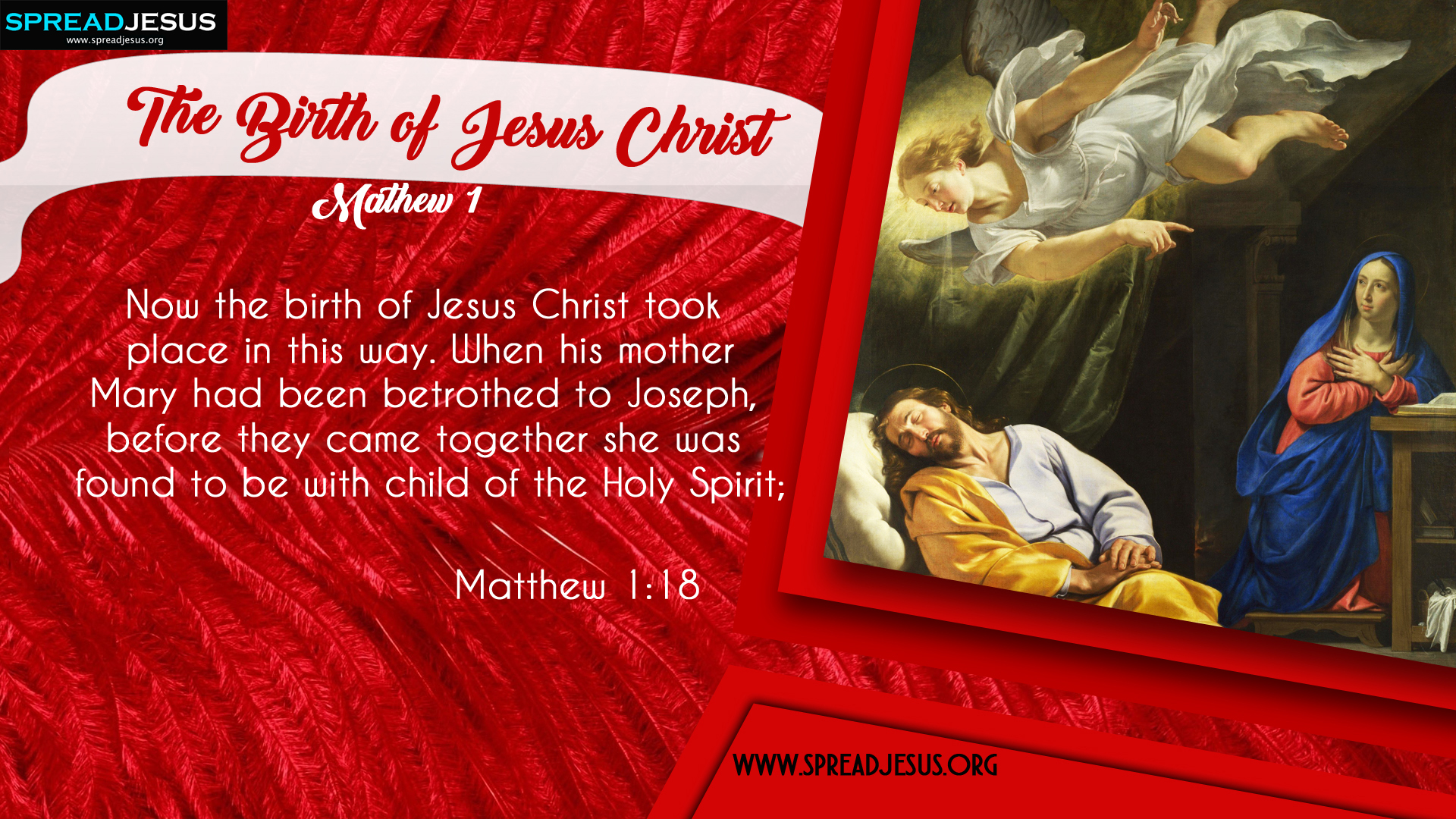The Birth of Jesus Christ Matthew 1:18 HD-Wallpapers