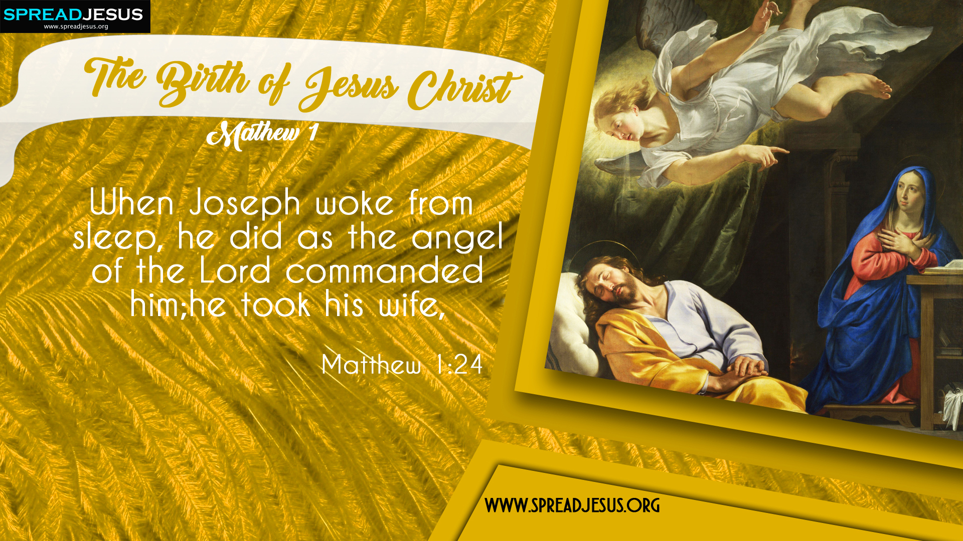 The Birth of Jesus Christ Matthew 1:24 HD-Wallpapers