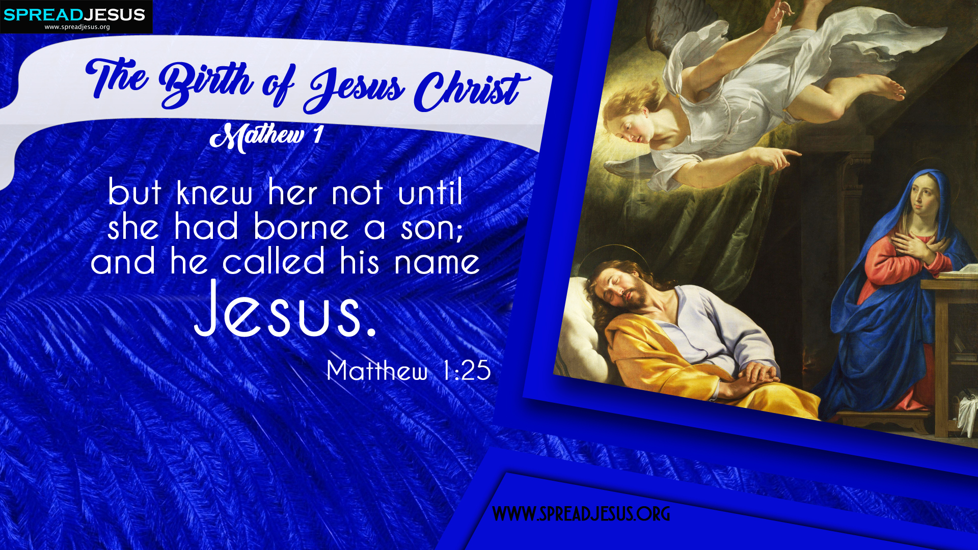 The Birth of Jesus Christ Matthew 1:25 HD-Wallpapers