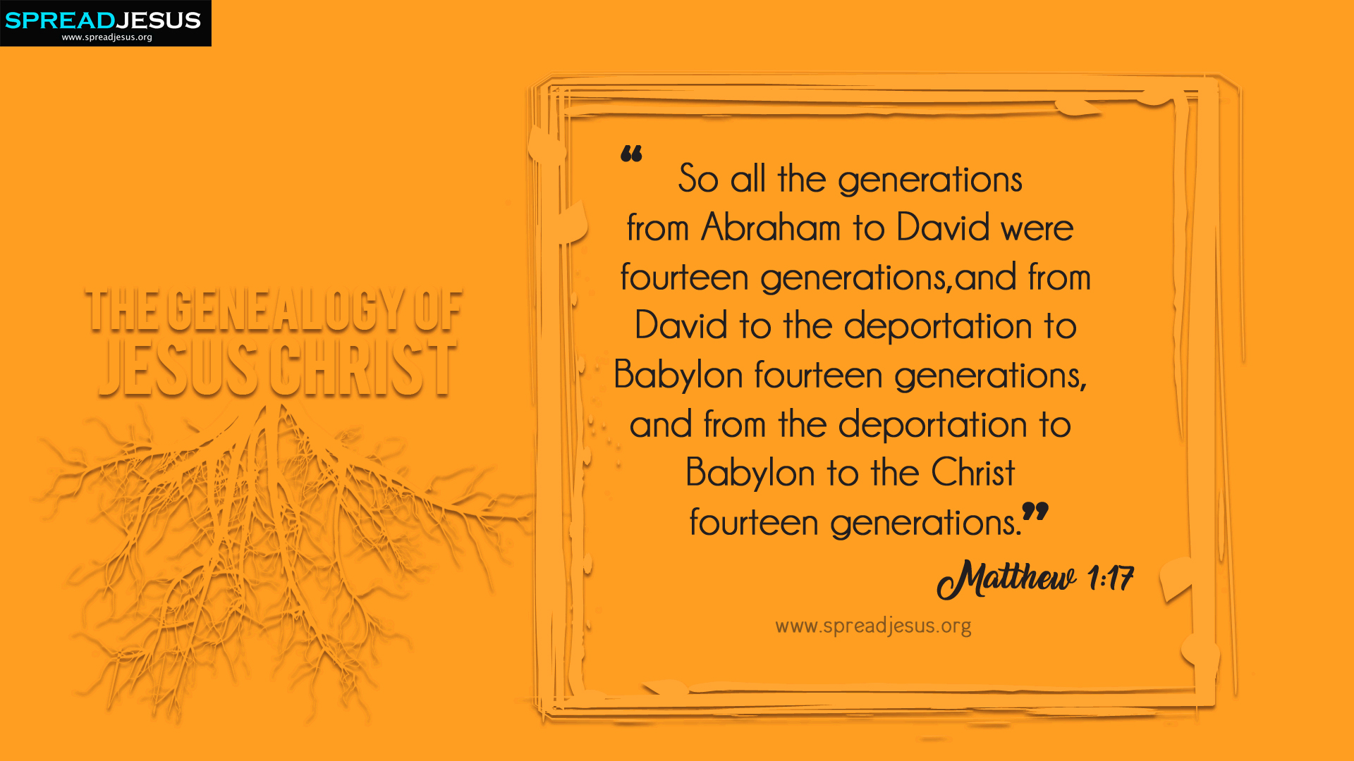 The Genealogy of Jesus Christ Matthew 1:17 HD-Wallpapers