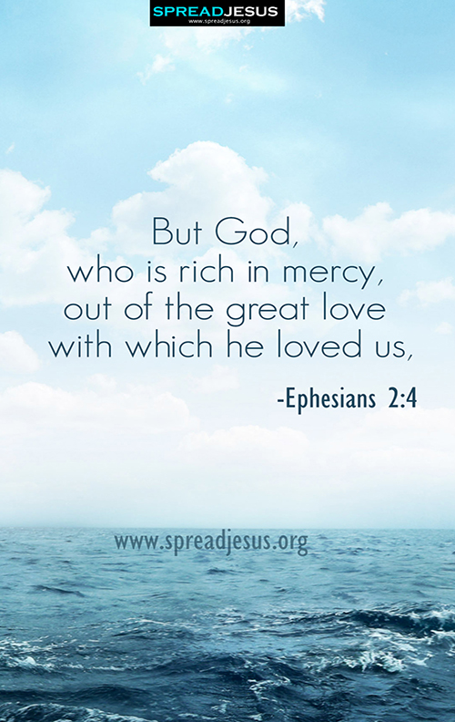 Bible Quotes Mobile Wallpapers-Ephesians 2:4  Download