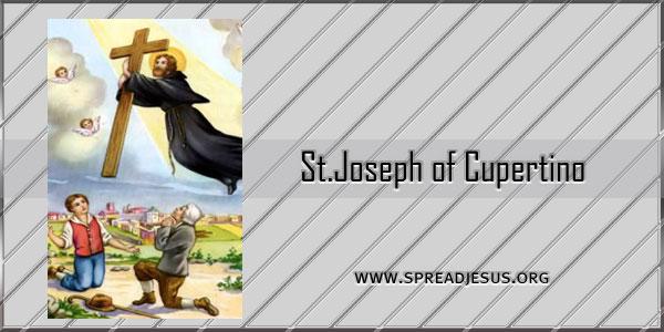 St Joseph of Cupertino Confessor