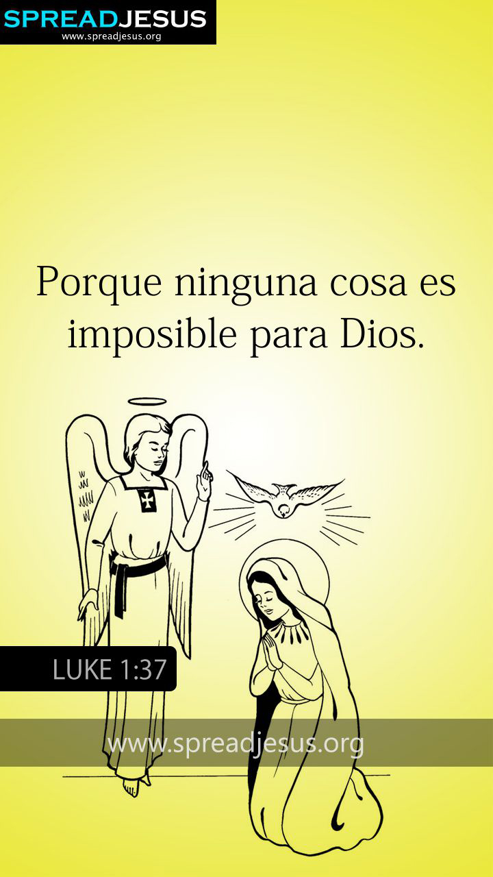 SPANISH BIBLE QUOTES LUKE 1:37 WHATSAPP-MOBILE WALLPAPER