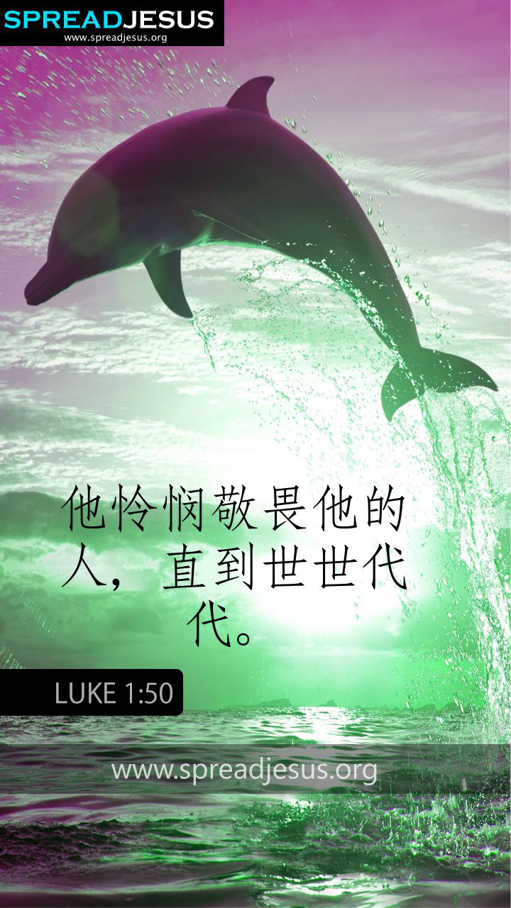 CHINESS BIBLE QUOTES LUKE 1:50 WHATSAPP-MOBILE WALLPAPER