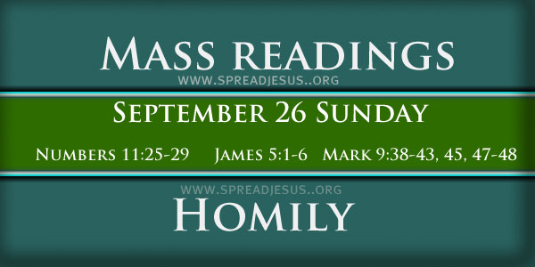 26th Sunday Homily