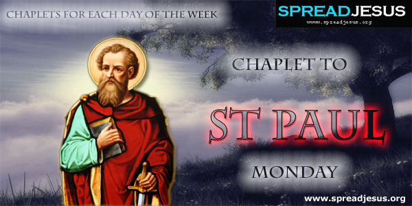 Monday Chaplet To St Paul