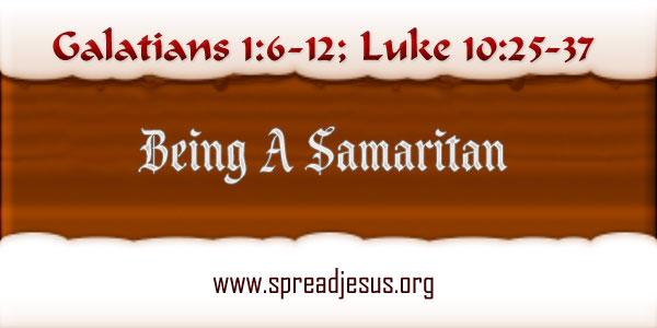 Being A Samaritan