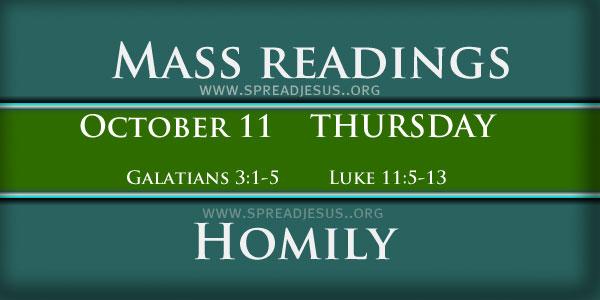 Mass Readings  October 11