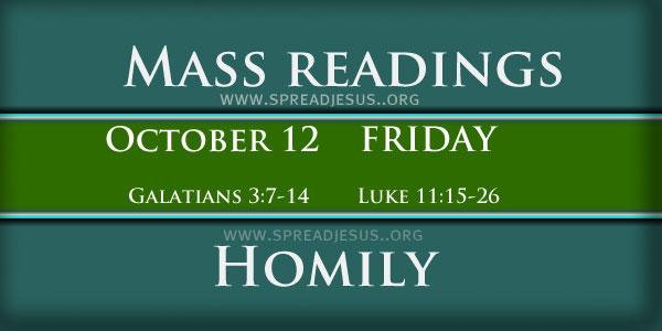 Mass Readings  October 12