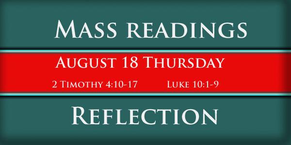 mass readings October 18 Thursday