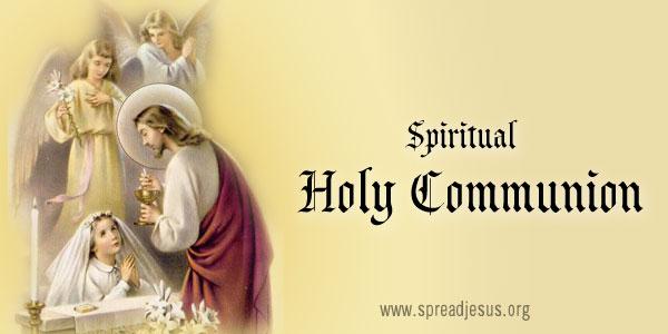 Spiritual Holy Communion