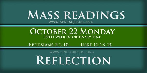 mass readings October 22 Monday
