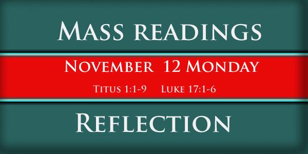 Mass Readings  November 12