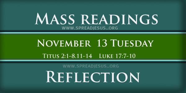 Mass Readings  November13
