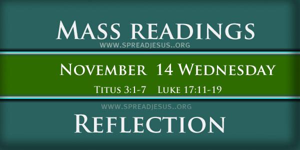 Mass Readings  November 14