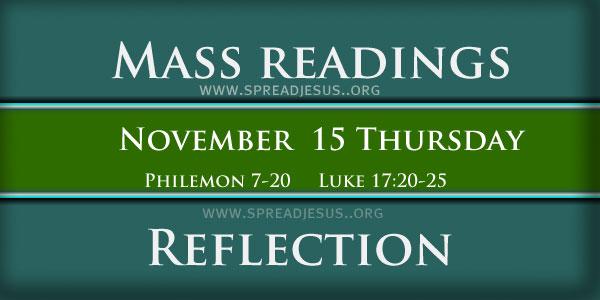 Mass Readings  November 15