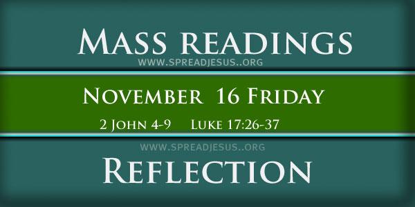 Mass Readings  November 16