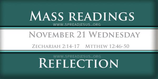 Mass Readings  November 21 Wednesday