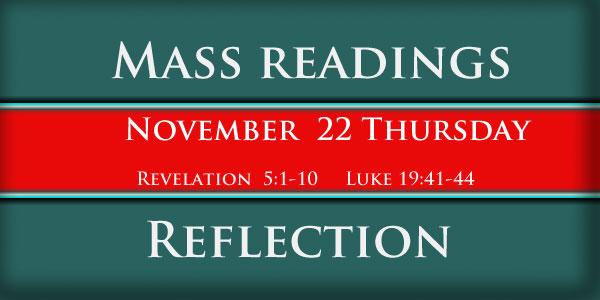 Mass Readings  November 22