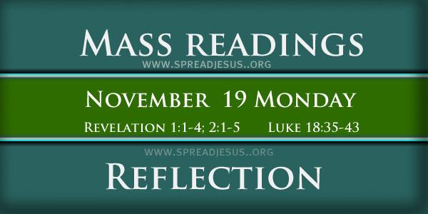 Mass Readings  November 19