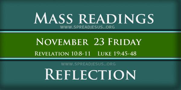 Mass Readings  November 23