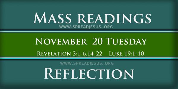 Mass Readings  November 20