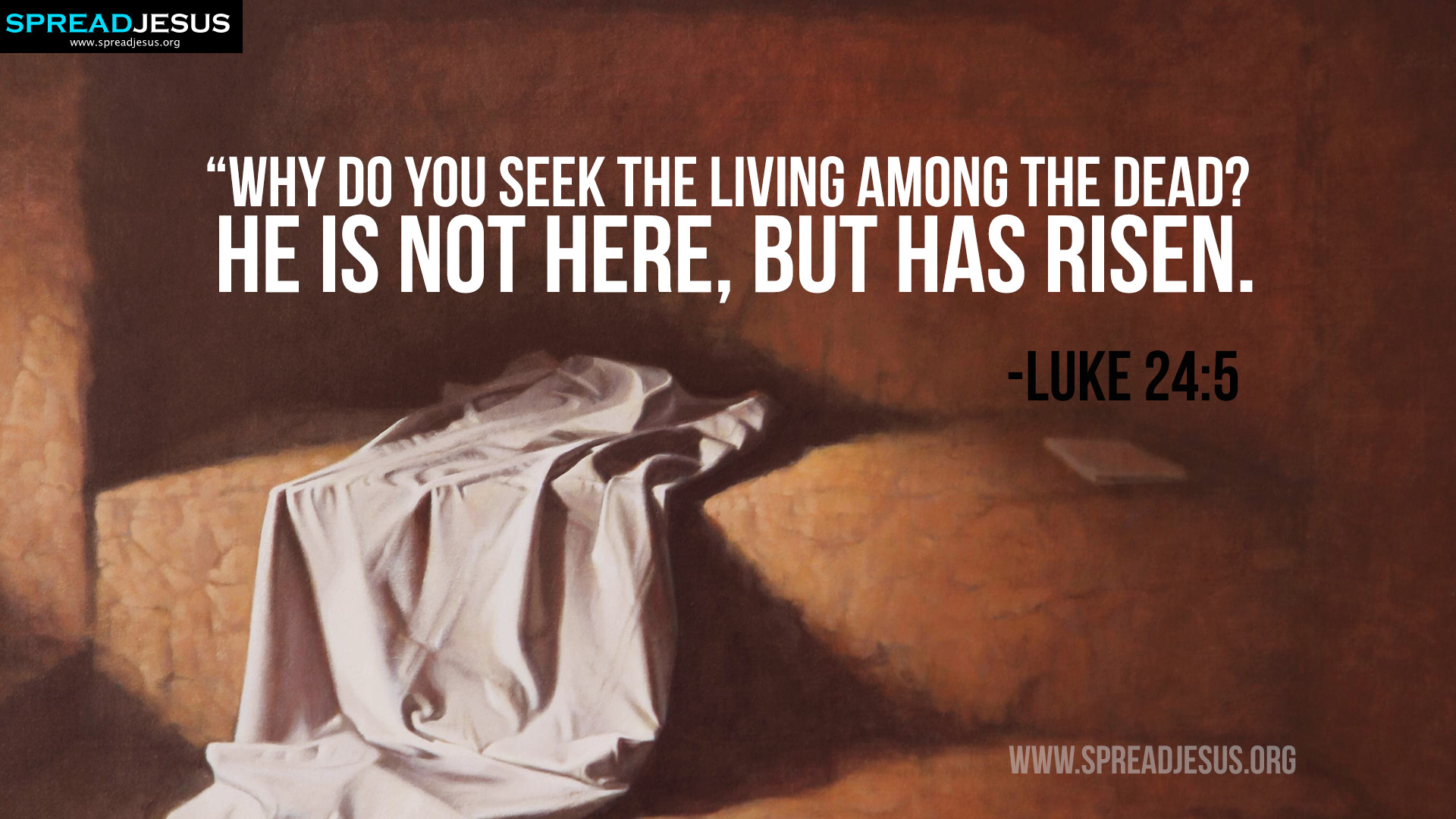 Easter Bible Quotes HD Wallpaper -Luke 24:5