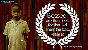 Matthew 5:5 BIBLE Quotes HD Wallpapers Download