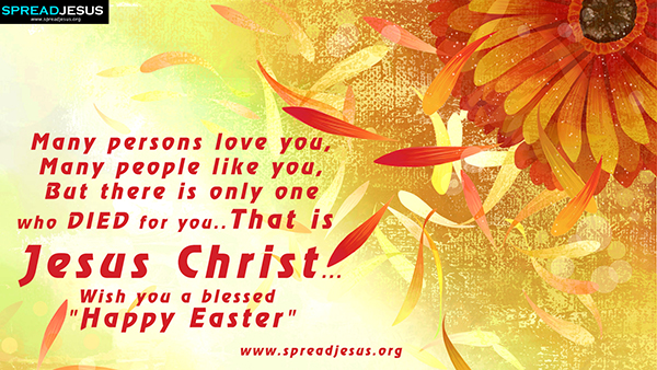 Wish you a blessed Happy Easter