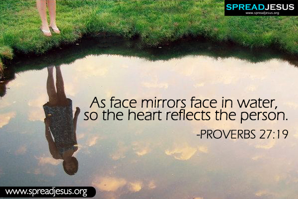 Bible quotes Whatsapp images Proverbs 27:19 Download