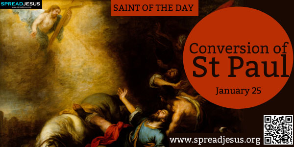 Conversion of St Paul SAINT OF THE DAY January 25