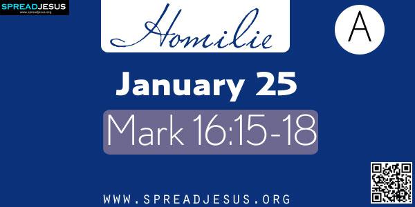 Homilie:January 25 Mark 16:15-18