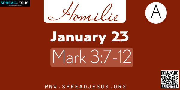 Homilie:January 23 Mark 3:7-12 A Multitude by the Sea