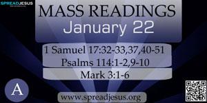Mass Readings  January 22