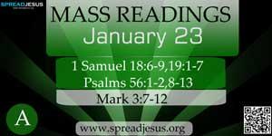 Mass Readings  January 23(A)