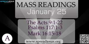 Mass Readings January 25(A)