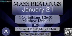 Mass Readings  January 21(A)