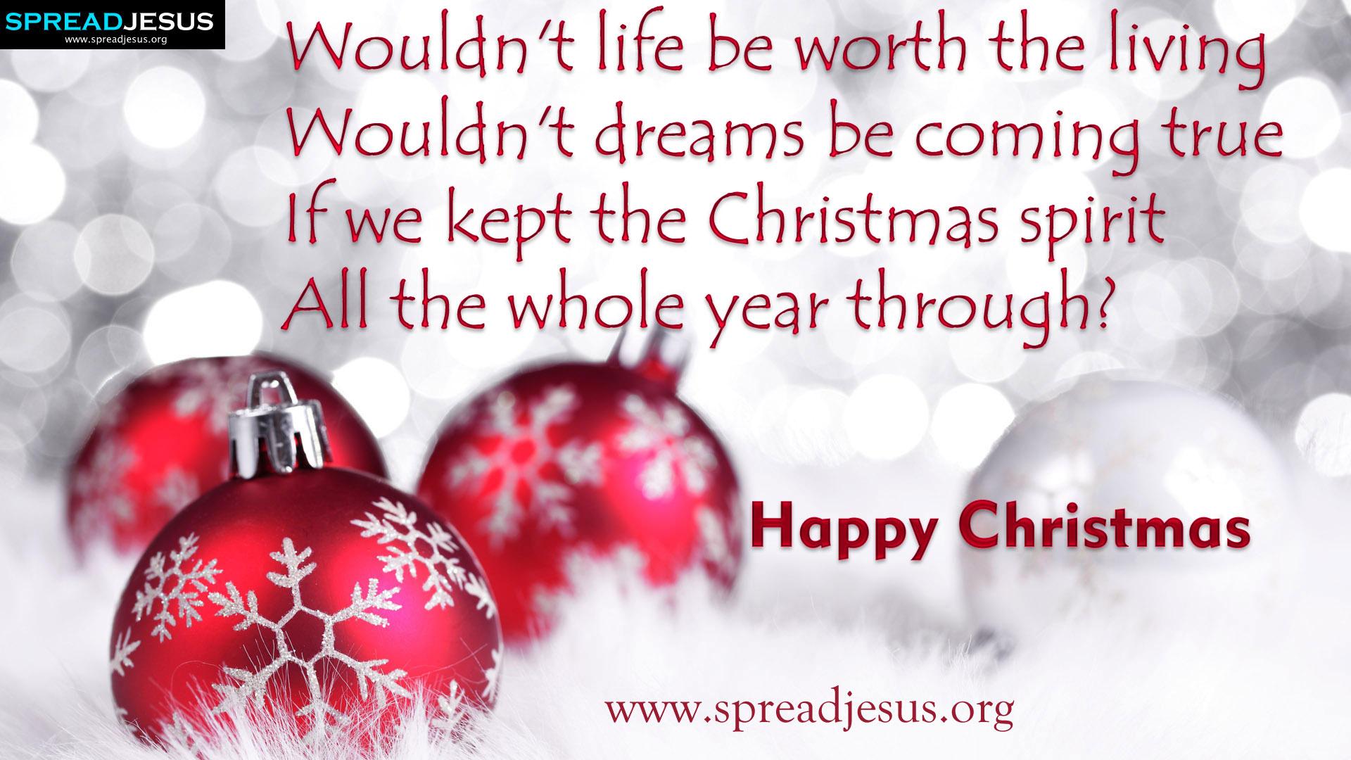 Happy Christmas:Christmas greatings HD wallpapers: Happy christmas Quotes wallpapers-spreadjesus.org