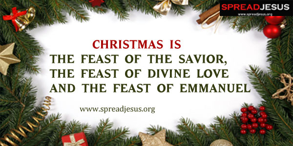 Christmas is the feast of the Savior