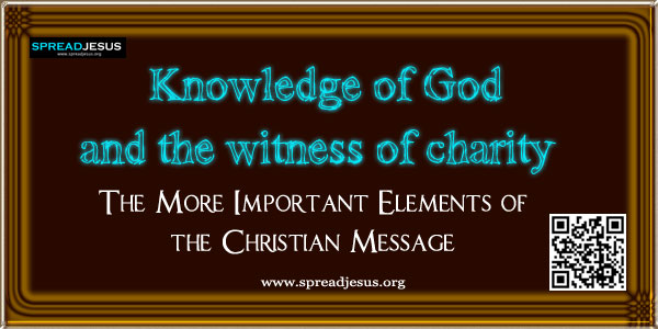Knowledge of God and the witness of charity