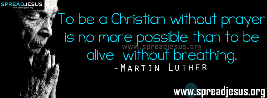 Prayer Quotes Facebook Timeline Covers-Martin Luther