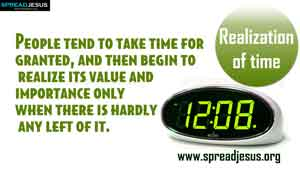 TIME MANAGEMENT QUOTES-Realization of time